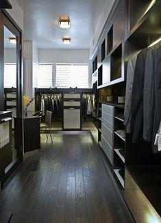 Top 100 Best Closet Designs For Men - Part Two Walking Closet, Walk In Closet Design, Wardrobe Design, Closet Designs, Lofts, Closet Interior, Modern Bedroom, Bedroom Decor, Bedroom Ceiling