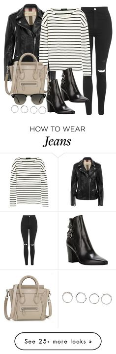 """Style #9411"" by vany-alvarado on Polyvore featuring Burberry, Topshop, J.Crew, Yves Saint Laurent, Ray-Ban and Boohoo"