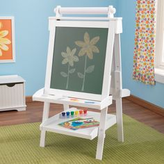 Deluxe Wooden Easel - White