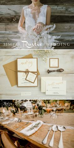 Simply rustic wedding invitation with gold script wordings and earthly kraft backing card EWIM011 Inexpensive Wedding Invitations, Laser Cut Wedding Invitations, Watercolor Wedding Invitations, Metallic Wedding Colors, Wedding Trends, Wedding Ideas, Wedding Gifts For Bridesmaids, Rustic Wedding, Script