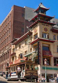 """"""" We call it...Grant Ave, SF, California, USA  Looks down from Chinatown over a foggy bay..."""" - Flower Drum Song"""
