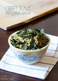 Crispy Kale and Quinoa Salad - two trendy foods (that I happen to like) in one dish - hooray!