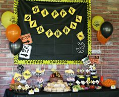 Construction Birthday Party Ideas | Photo 1 of 14