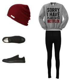 """""""Untitled #1"""" by hlaffer811 ❤ liked on Polyvore featuring Converse and Boohoo"""