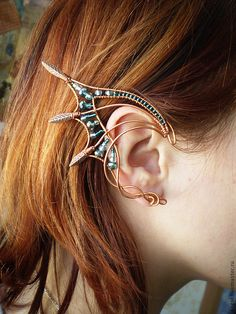 Emerald Dragon ear cuff!
