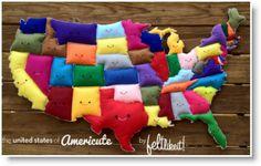 The United States of Americute ♥ http://felting.craftgossip.com/2013/12/28/the-united-states-of-americute/