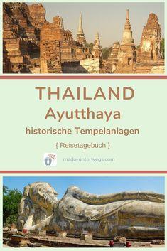 Mit dem Tuk Tuk 🛺 und per Boot 🛥️ war ich einen Tag in #ayutthaya unterwegs und sah sieben verschiedene Tempelruinen 🛕 dieser ehemaligen Königsstadt. Bspw. #watmahathat 🤩 oder #watlokayasutharam.⠀⠀⠀⠀⠀⠀⠀⠀⠀⠀⠀⠀⠀⠀⠀⠀  // #madoreisen #madounterwegs👣 #reisetagebuch #asien #thailand #reisetipp #travel #tourismthailand // Werbung, da Firmen-/Marken-/Ort-/Personen-Nennung oder -Verlinkung ohne Auftrag, aber als persönliche Empfehlung // Dienstleistungen/Produkte/Unterkünfte selbst bezahlt // Ayutthaya, Thailand, Taj Mahal, Tourism, War, News, Travel Scrapbook, Temples, Asia
