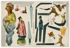 The Automatons  paper toy  1896  ManufacturerDonaldson Brothers | The New York Recorder Materialprinted paper OriginNew York, NY ...