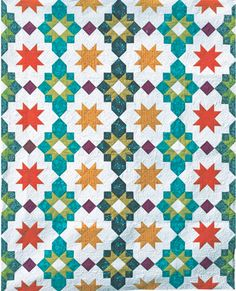 Moroccan Lanterns Paper Pattern - Freshly Pieced Quilt Patterns - 1