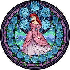 Stained Glass: Ariel by Akili-Amethyst on DeviantArt