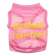 BBEART Pet Clothes, Cute Little Dog 'Bitches Love Me' Printed Vest Clothing Puppy Teddy Cat Breathable T-shirt Sleeveless Costumes For Spring and Summer Apparel -- You can get more details by clicking on the image. (This is an affiliate link and I receive a commission for the sales)