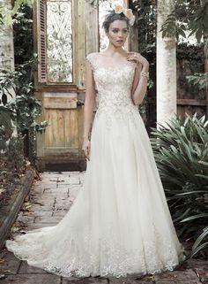 Elegante zwierige trouwjurk met delen van prachtig kant