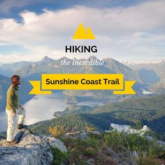 Hiking the incredible Sunshine Coast Trail. #SunshineCoast #BritishColumbia #BC #Explore #ExploreBC #Hiking #Canada #Outdoor #Activities #Trek #Adventure #Hut #PowellRiver