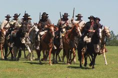 """Texas Cavalry - """"A Union private noted, 'fighting the Texans is like walking into a den of wildcats.'""""  (quote fm Between the Enemy and Texas:  Parsons's Texas Cavalry in the Civil War, p.xiv, by Anne J. Bailey)"""