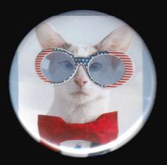 Nerd Cat Button by kohaku16 on Etsy, $3.00 cute
