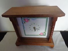 Vintage Handcrafted Wooden/Cross Stitch Clock by thingsbybrinda on Etsy