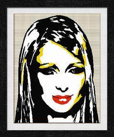 """Gráfico para punto de cruz de """"Paris Hilton""""."""
