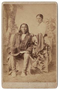 Вождь Арапахо Little Raven -  фото J. N. Choate. Период 1880-х годов.