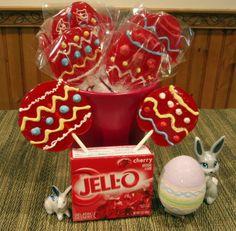 Jell-o Easter Lollipops