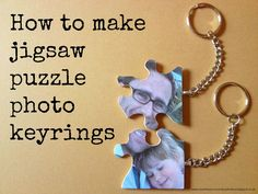 Upcycled Jigsaw Puzzle Pieces - How to make photo keyrings