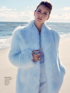 Cool And Collected: model Stina Olsson in light blue fur coat for Hong Kong Tatler, December © Lara Jade Pretty Pastel, Pastel Blue, Fur Fashion, Winter Fashion, Female Fashion, Lara Jade, Hong Kong Fashion, Outfits Otoño, Fall Outfits