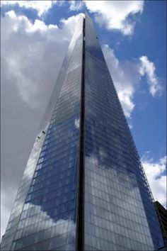 Two tiny figures cleaning the Shard