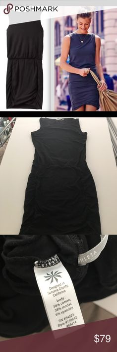 "Athleta Tulip Sleeveless Dress Black Medium Excellent Used Condition! No holes or stains. I'm 5'2"" and it hits me slightly below the knee. MAKE ME AN OFFER Athleta Dresses"