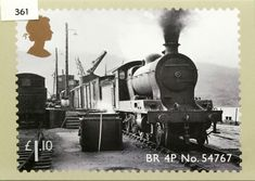 Classic Locomotives of Scotland Stamp BR No. Uk Stamps, Rare Stamps, Postage Stamps, Rail Transport, Steam Locomotive, Stamp Collecting, Countries Of The World, Great Britain, Scotland