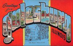 Postcard, Galesburg, Illinois.