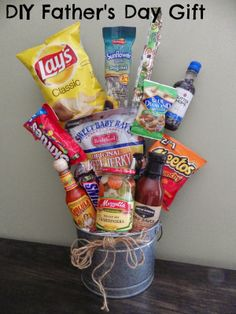 Diy easy Father's Day edible gift arrangement!