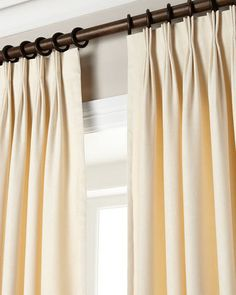 Ivory 20'' Triple Pinch Pleat Lining Curtains / от TheNewHome1