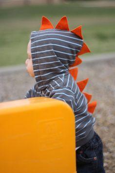Children's Dinosaur Hoodie by SwankyPankyDesigns on Etsy, $26.00