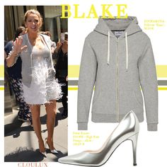 Blake Lively kombiniert Abend mit Freizeit und kombiniert zu ihrem… Blake Lively Outfits, Blake Lively Style, Cocktail, Street Style, Woman, My Style, Celebrities, Sweatshirts, Sweaters