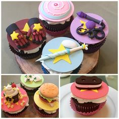 'Steven Universe' Cupcake Masterpieces from Nerdache Cakes Perla Steven Universe, Steven Universe Funny, Lapidot, Geek Mode, Sweet Cupcakes, Cake Designs, Cartoon Network, Fandoms, Sweets