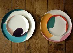 Platos de colores #vajilla