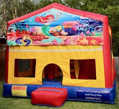 We offer free delivery within a radius of Cooroy & provide quality jumping castles to Gympie Council and Sunshine Coast Council residents. Party Hire, Obstacle Course, Basketball Hoop, Sunshine Coast, Sun Protection, The Little Mermaid, Castles, Book, Happy