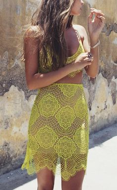 OUTFIT: http://www.glamzelle.com/collections/whats-glam-new-arrivals/products/grace-chartreuse-laces-skirt