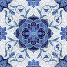 beautiful white mosaic