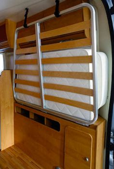 Choosing a fixed rear bed high top campervan conversion Vw T3 Camper, Build A Camper Van, Camper Beds, Cargo Trailer Camper, Truck Bed Camper, Transit Camper, Mini Camper, Campervan Bed, Campervan Interior