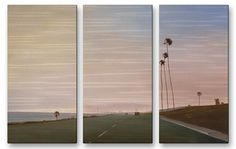 'California Road 10' by Relja Penezic 3 Piece Graphic Art Plaque Set