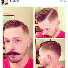 mens haircut with hard part