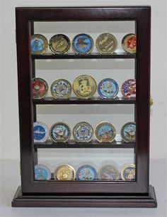 Military Challenge Coin Display Case Counter Top Holder Stand Shadow Box, Glass door, Mahogany Finish (COIN12-MA) DisplayGifts,http://www.amazon.com/dp/B006BH0FSI/ref=cm_sw_r_pi_dp_HryIsb0QBXDE540S