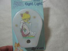 Luv N' Care Precious Moments Nightlight Girl with GOOSE Duck Butterfly New | eBay