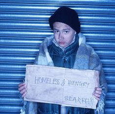 Homeless Children. Do not overlook the fact that homeless children are all around us. Take a chance and help.