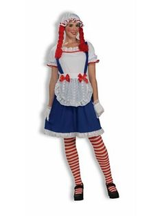 Womens Raggedy Doll Costume Do you remember having a Raggedy Ann doll? Well now you can be your most favorite doll with this Adult Women's Raggedy Ann Costume Funny Halloween Costumes, Baby Costumes, Adult Costumes, Costumes For Women, Halloween Ideas, Halloween Customs, Halloween 2015, Family Costumes, Adult Halloween