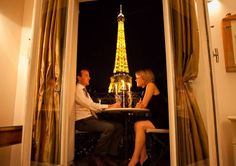 Enjoy a romantic dinner for two on your private balcony in Paris... DREAM DATE!!!!