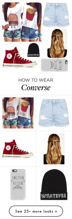 """""""The best friend"""" by changeusername1 on Polyvore featuring Topshop, Converse, Natasha Accessories, Casetify and Local Heroes"""