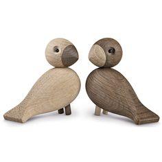 Sangfuglene Lovebirds fra Kay Bojesen. Kay Bojesen laget sangfuglene allerede på 1950-tallet, m...  849 NOK