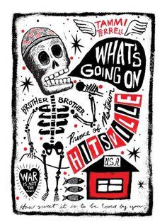 Carlos Hernandez Art - Day of the Dead Rock Stars >> El Marvin Gaye