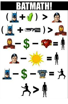 Next time the Batman vs Superman argument comes up, feel free to refer to this handy Bat-math chart.